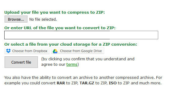 how to change rar file into zip