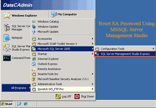 Reset SA Password Using SQL Server Management Studio