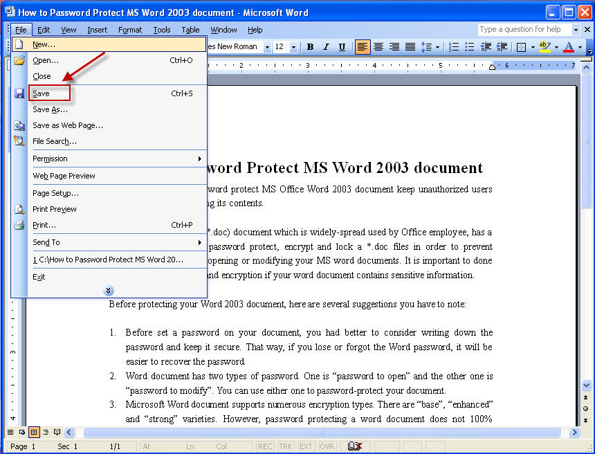 Image result for save document in ms word 2003