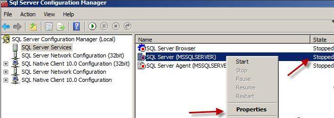How to remove password in SQL Server 2005