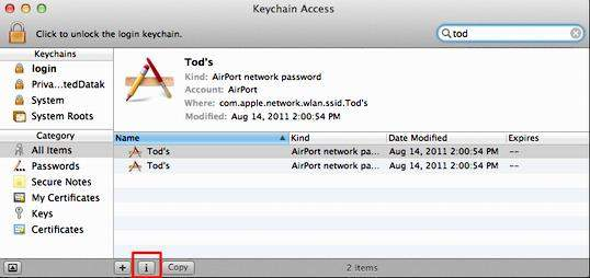 how to show password on mac wifi