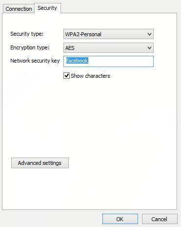 windows 8 change password wifi