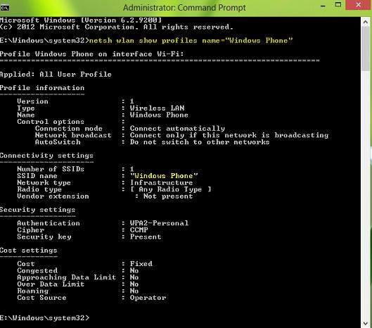 change the password of wireless network in windows 8