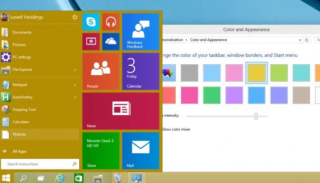 personalize the start menu in windows 10