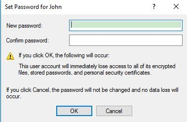 hp forgot administrator password windows 10