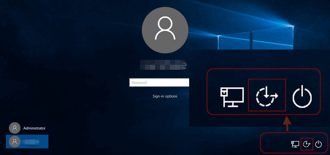 utility manager on windows 10 login screen