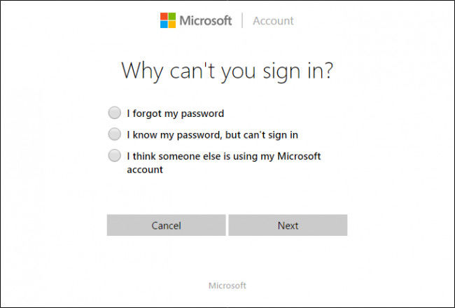 why can't you sign in