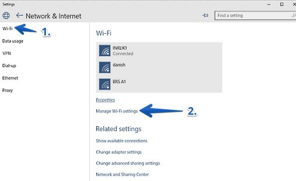 how to get the wifi password from windows 10