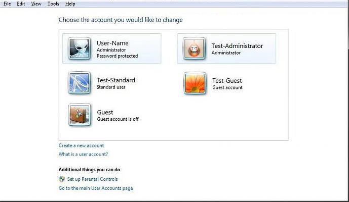 how to change windows 7 user account type
