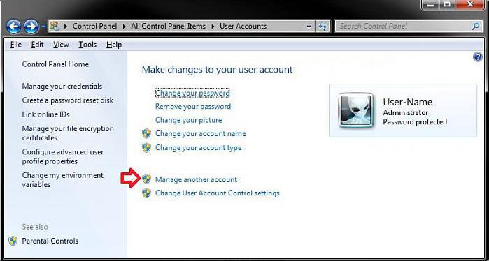 how to delete a user account in windows 7