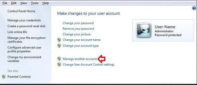 how to change a user account type in windows 7
