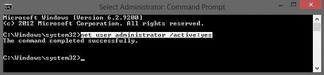 enable the built-in administrator account in windows 8.1