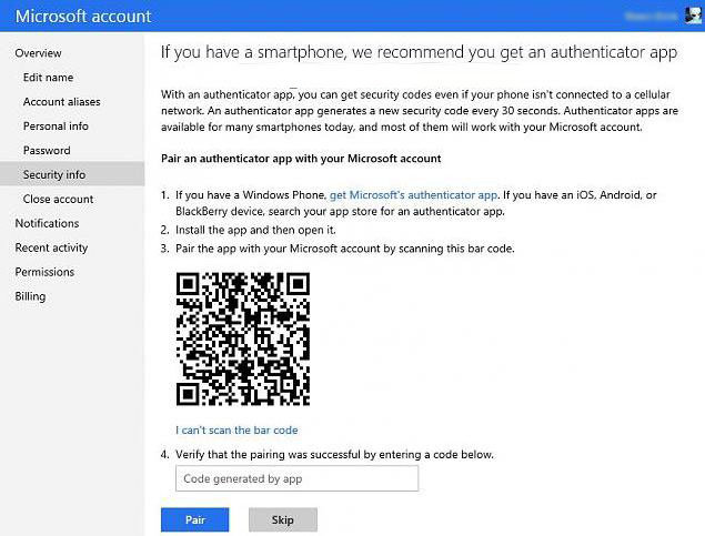 how to turn on two-step verification for your microsoft account