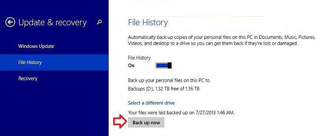 how to back up data with file history in windows 8.1
