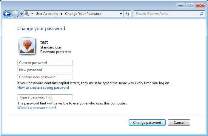 how to reset start up password