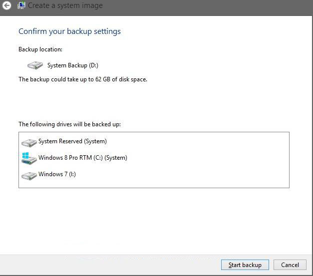 how to set up system image in windows 8.1