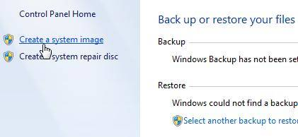 create system image backups in windows