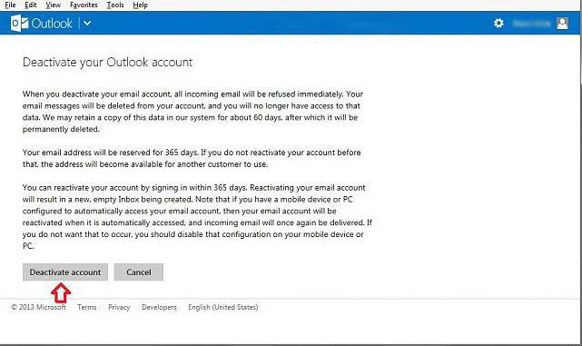 how to close microsoft account in windows 8