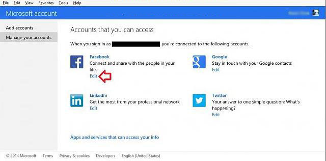 how to add or remove web service account in your microsoft account