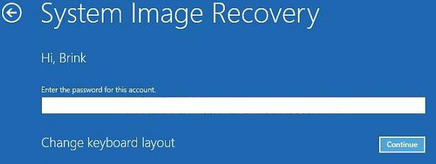 how to do system image recovery in windows 8