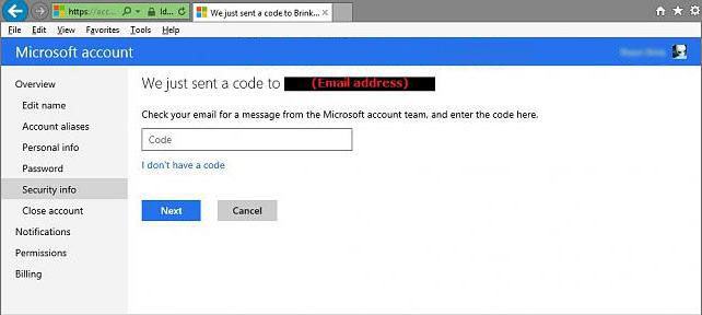turn on two-step verification for your microsoft account