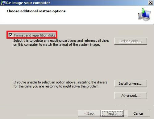 how to create system image recovery windows 8