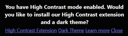 how to enable high contrast themes