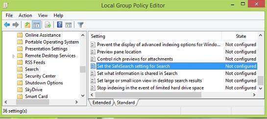 configure smart search results in windows 8.1