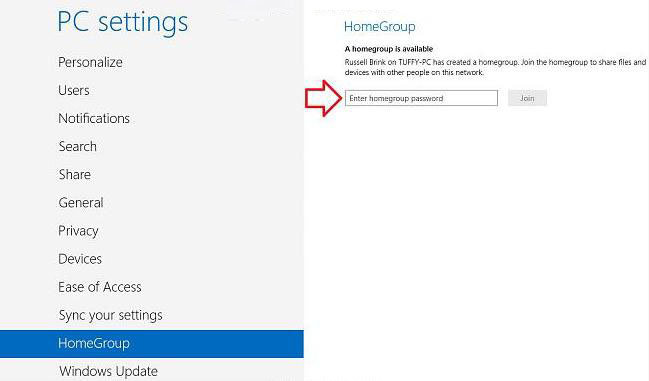 how to join homegroup in windows 8.1