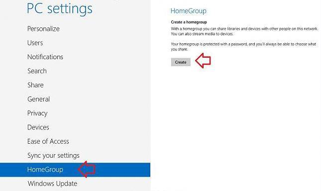 how to create homegroup in windows 8.1