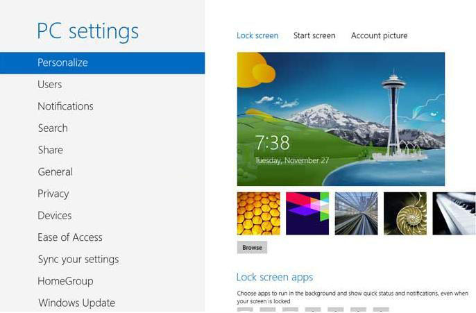 how to open pc setting in windows 8.1