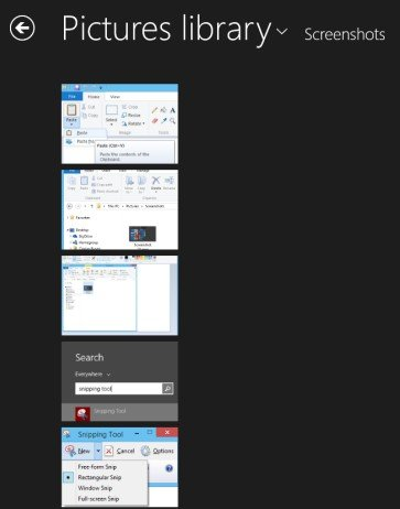 take fast screenshots in windows 8