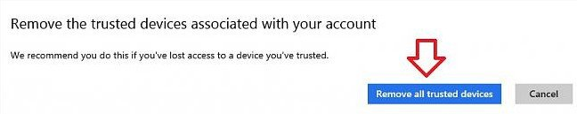 how to remove trusted device in microsoft account