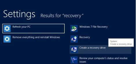 how to create a usb recovery drive in windows 8.1
