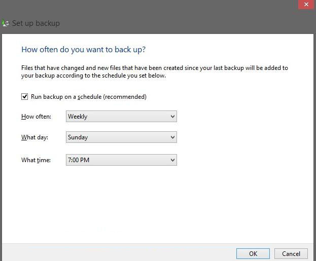 how to use windows backup in windows 8