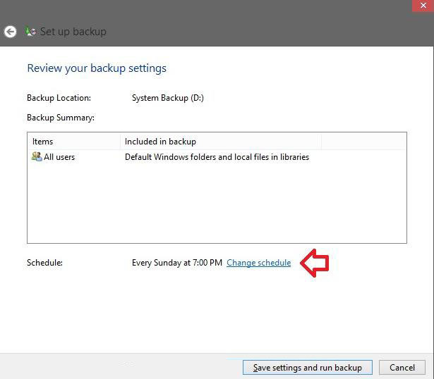 how to backup windows 8 files with windows backup