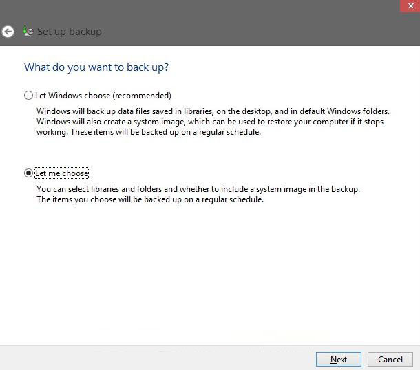 how to back up files in windows 8 with windows backup