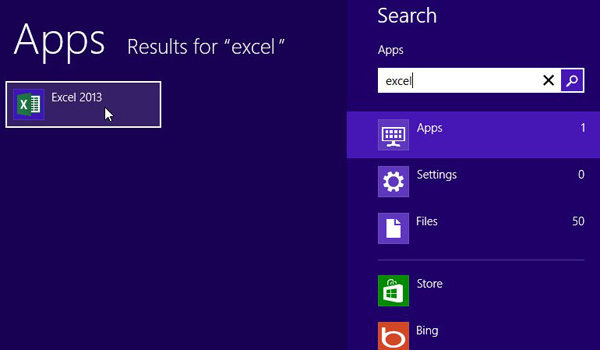 search windows 8's programs