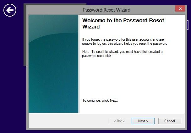 windows 8 says password wrong