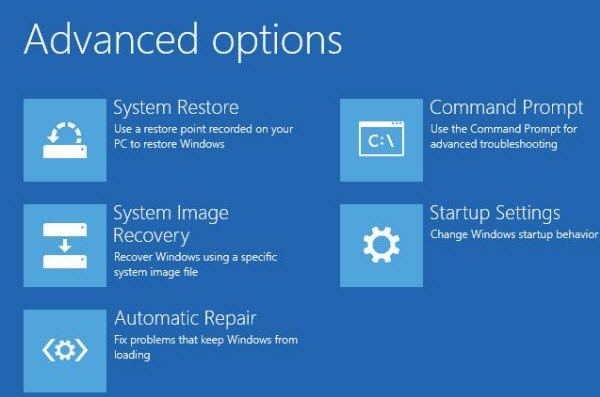 how to use advanced startup options to fix windows 8 computer
