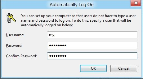 Remove login password from Windows 8