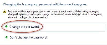 windows 7 homegroup password change