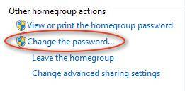 change homegroup password windows 7