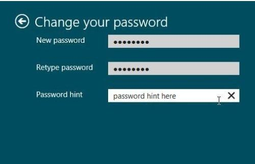 how to set up a Windows 8 user password