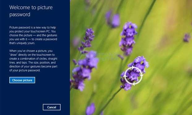 use picture password in Windows 8