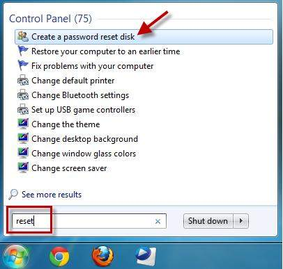 windows 7 password recovery usb