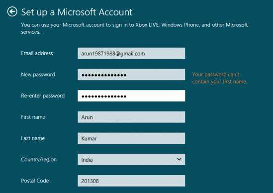 how to switch to microsoft account and local account in windows 8