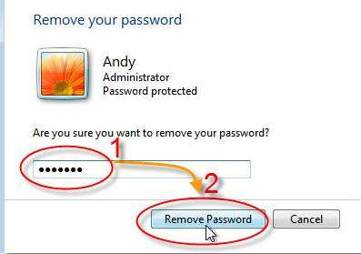 remove windows 7 password