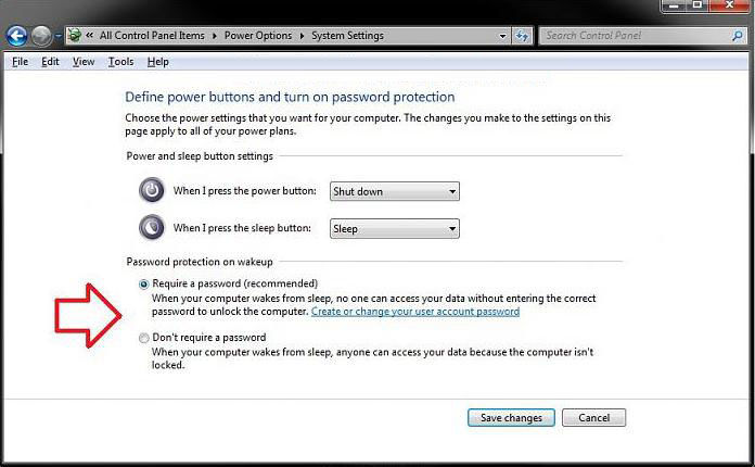 how to make windows 7 not require a password on wakeup