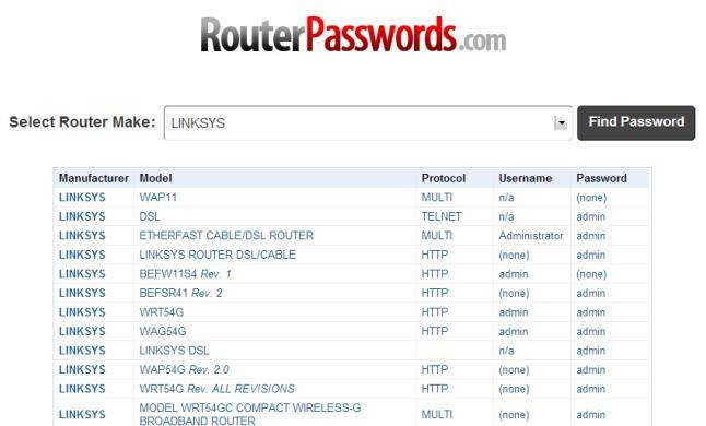 how to find wireless router's password